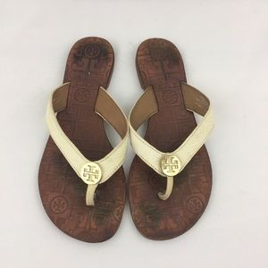 Tory Burch Cream Sandals *Size Missing* ~6-6.5